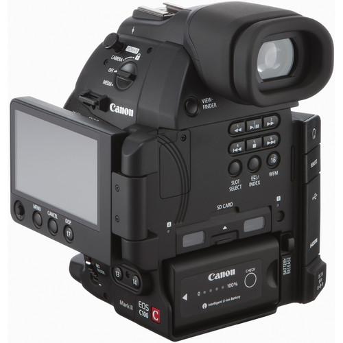 Canon EOS C100 mark ii back OLED screen folded