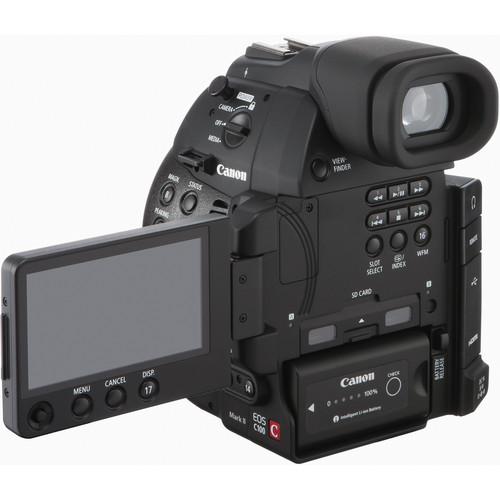 Canon EOS C100 mark ii back oled screen