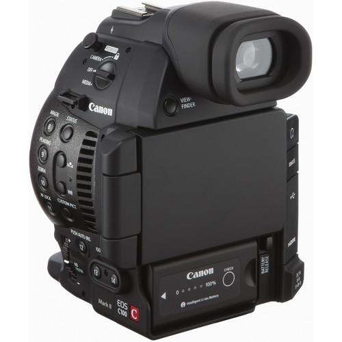 Canon EOS C100 mark ii back