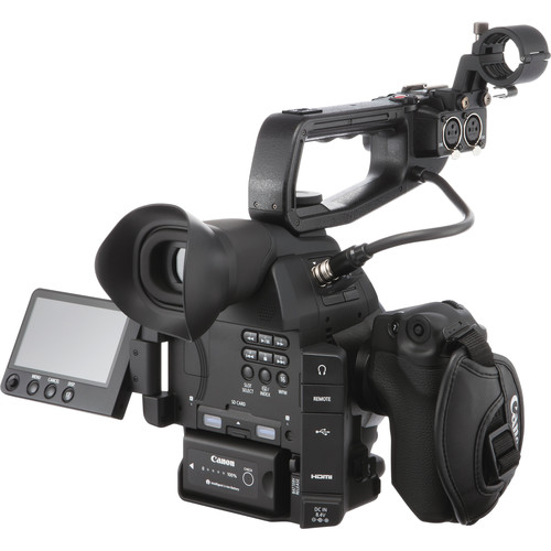 Canon EOS C100 mark ii with handle fitted