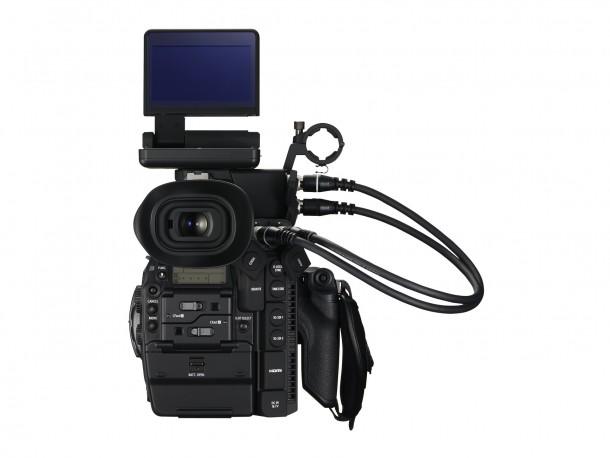 EOS C300 Mark II BCK 24-105 f4L LCD Monitor Up