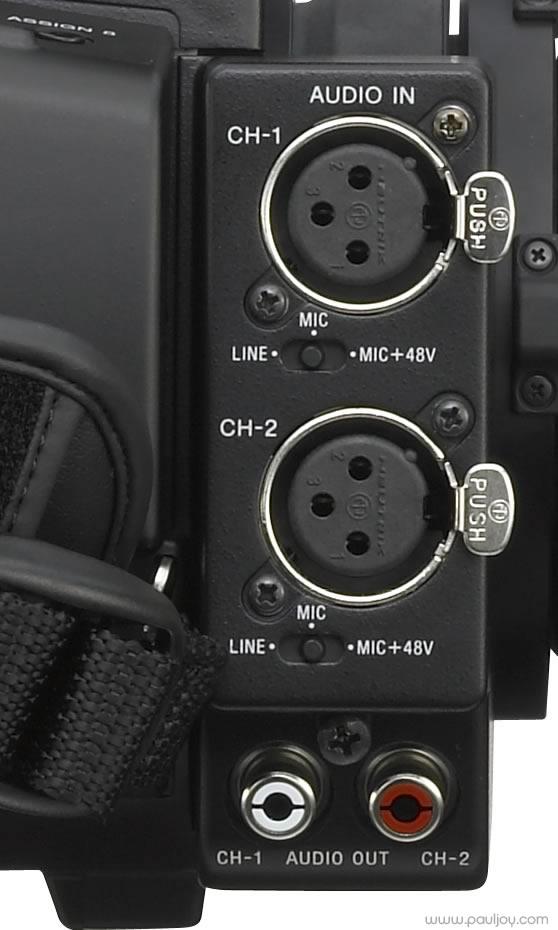 Sony PMW-F3 - audio input
