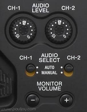 Sony PMW-F3 - audio controls