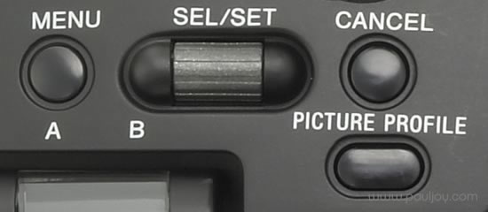 Sony PMW-F3 - menu controls